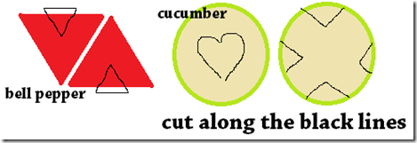 valentines day vegetable cutting